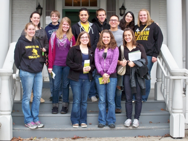 Students visit the home of American writer, Harriet Beecher Stowe, in Cincinnati. Harriet Beecher Stowe wrote the famous antislavery novel,
