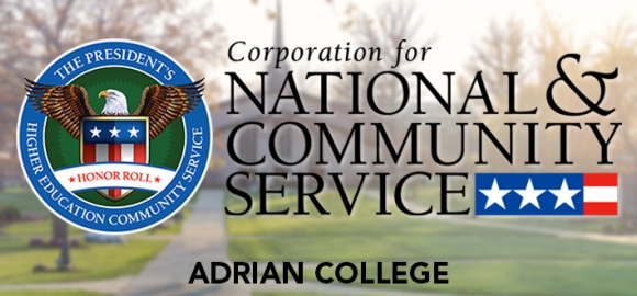 Adrian College Named to the 2015 President's Higher Education Honor Roll