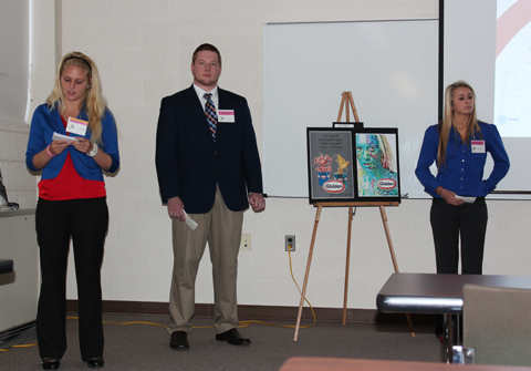 Chloe Stiriz, Greg Brannan & Danielle MacFarlan presenting. Their project was under the ribbon Developing Creativity.