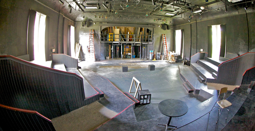 Downs Hall Theatre pre-renovation in June 2013.