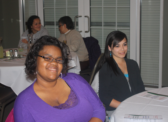 Gabrielle Willis and Jasmine Camacho at the end of the year dinner (2012)