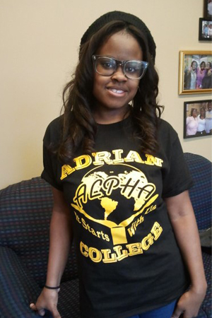 Danielle Whitley models ALPHA T-shirt