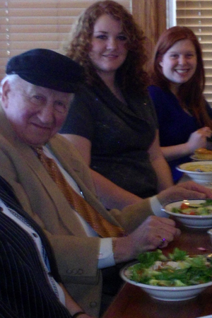 Martin Lowenberg, Holocaust survivor, with Stephanie Boehringer