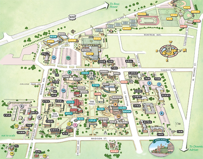 Adrian College | Map & Directions